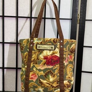 Longaberger Floral Bag 8x12